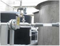 浮上分離槽の加圧タンク入口