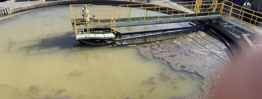製紙工場の排水処理前