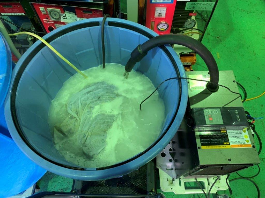 ACBキャリアを用いマイクロバブル微生物処理