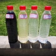 オゾンマイクロバブルを使った染色排水の処理実験