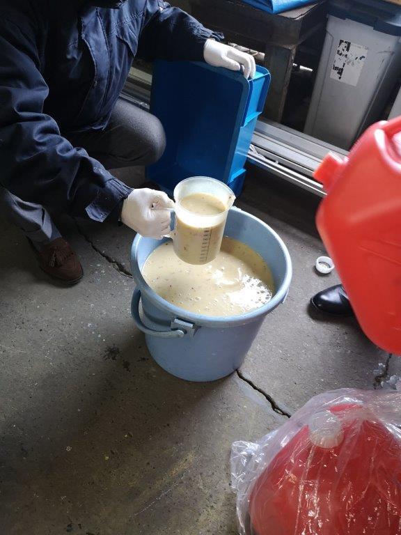 焼酎廃液 原水の様子