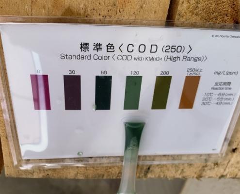 10-パックテストではCOD120の値を示す