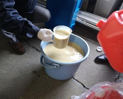 1-焼酎廃液 原水の様子